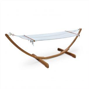 Hamaca Wooden hammock 317 x 100 cm with cotton canopy, Hamaca