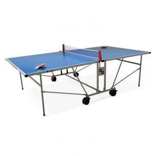 Outdoor table tennis Blue outdoor table tennis , with 2 rackets and 3 balls, for outdoor use