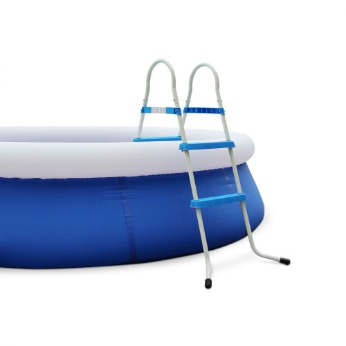 Symmetrical above ground 2-step pool ladder Symmetrical above ground 2-step pool ladder with max. height of 84cm, pool accessory.