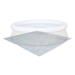 330 x 330cm ground cloth Grey 330 x 330cm ground cloth for Ø300cm above ground round frame pool, cover, coverage, floor protector