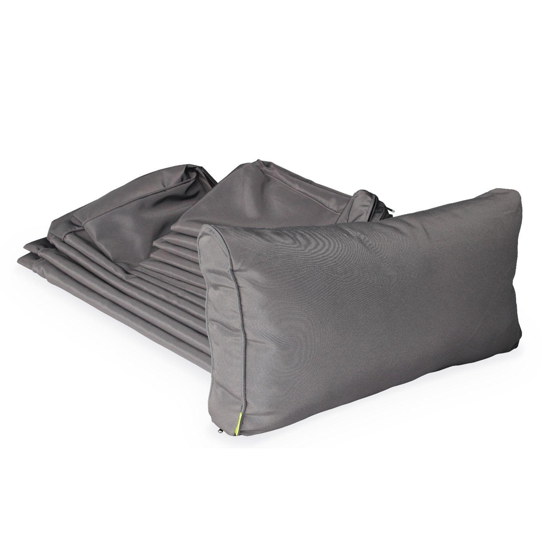 Grand Coussin Pour Exterieur jeu de housses de coussins grises pour salon de jardin