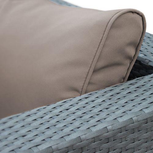 Milano Jeu de housses de coussins marron pour salon de jardin Milano - set complet