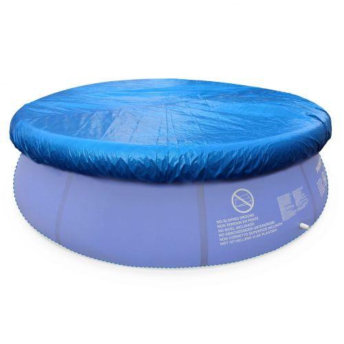 B che de protection bleue 330cm pour piscine ronde hors - Bache hivernage piscine hors sol ronde ...