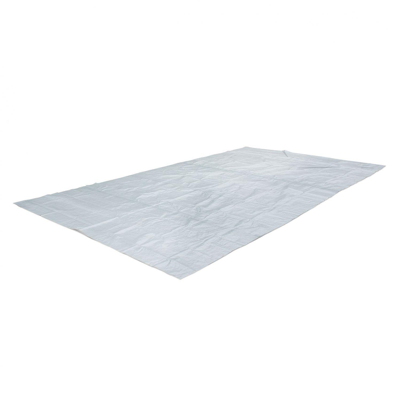 Tapis de sol gris 9 x 9 cm pour piscine rectangulaire hors sol