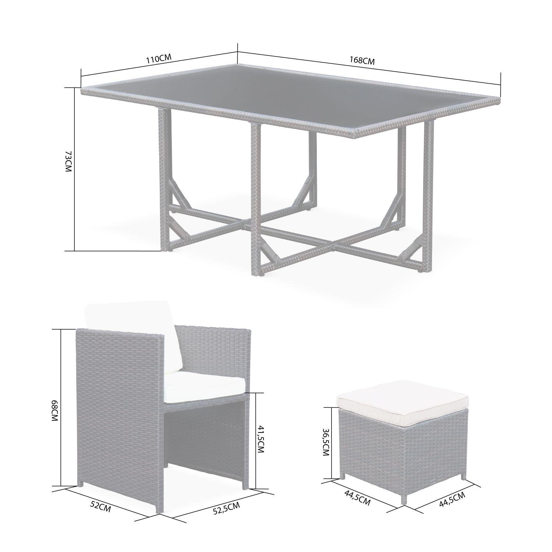 Housse Pour Plancha Tonio salon de jardin vasto noir table en résine tressée 6 à 10