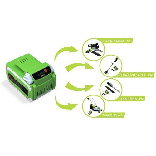 accumulateur Li-Ion haute capacit/é Batterie 2,5Ah pour outils /électriques VOLTR AutonoMAX 40V Composants SAMSUNG Lithium-Ion Alices Garden t/émoin lumineux