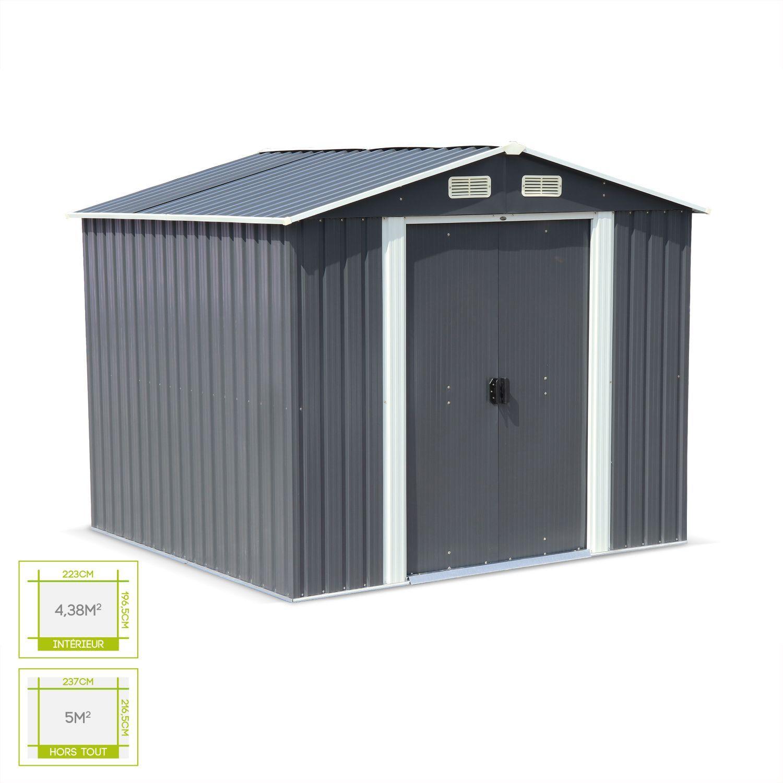 Abri De Jardin Composite abri de jardin en métal - artois 5m² anthracite - cabane à