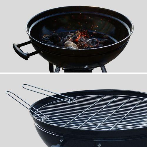 Houtskool barbecue Ø56,5cm met asbak en gechroomde rooster.
