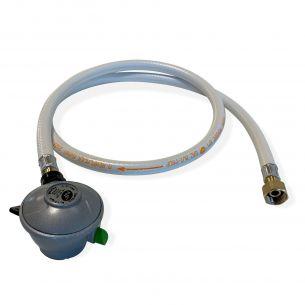 Flexible + détendeur Quick-on Propane 20mm Tuyau flexible de gaz 1,5 m à embouts mécaniques + Détendeur Quick-on Ø20mm Propane 37mbar 1,5kg/h