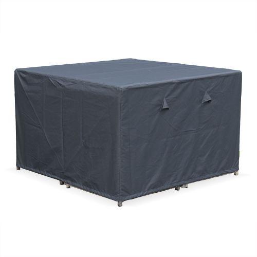 CUBO8 ET VASTO8 Housse de protection 112x112cm gris foncé polyester enduit PA pour tables de jardin Vasto 8, Cubo 8