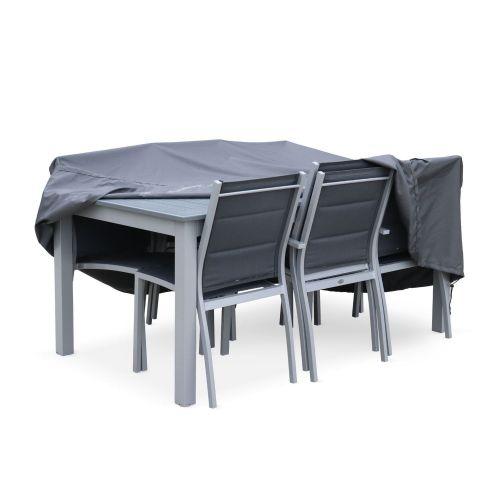 Housse De Protection 175x124cm Gris Fonce Polyester Pour Tables De