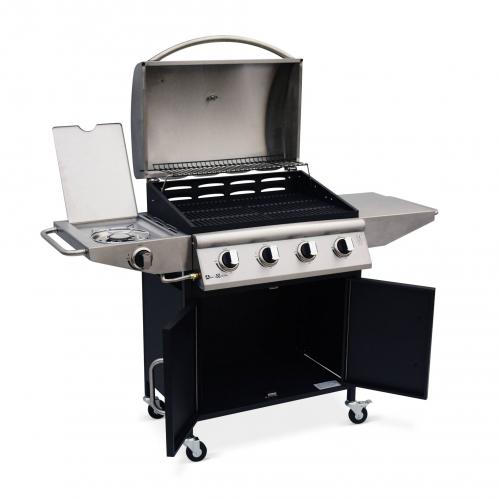Gasbarbecue Albert Barbecue 4 branders + 1 zijbrander