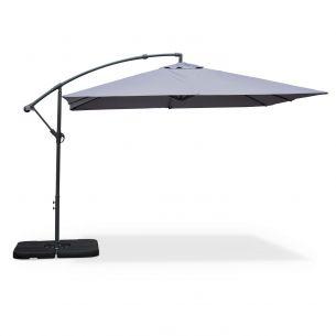 Hardelot 3x3m Hardelot: Square cantilever parasol 3x3m, grey