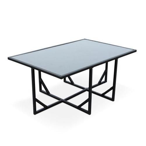 Vasto 10 Vasto 10: 10-seater garden table and chair set, black / grey