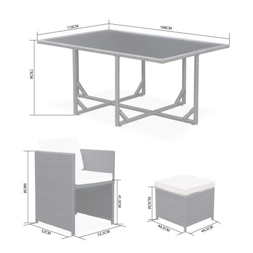 Vasto 10 Vasto 10: 10-seater garden table and chair set, mixed grey / charcoal