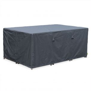 Vasto 10 and Cubo 10 cover 172x112cm dark grey dust cover - Rectangular, PA-coated polyester dust cover for the Vasto 10 and Cubo 10 garden tables
