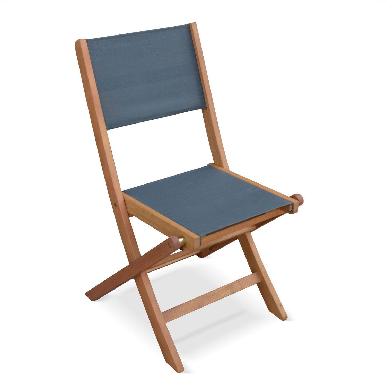 Lotto di 2 sedie da giardino in legno, modello: Almeria, 2 ...