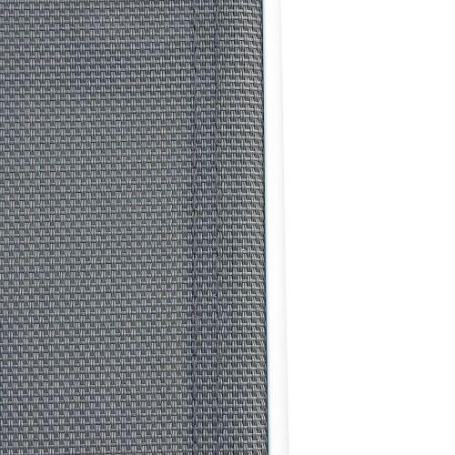 Naevia Set da pranzo da giardino, modello Naevia in alluminio,  8 posti, colore: Bianco e Grigio, poltrone in textilene , 186x86cm