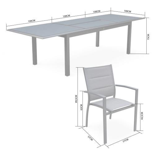 Tavolo Da Giardino Allungabile Usato.Set Da Pranzo Da Giardino Alluminio Allungabile Colore Grigio 8