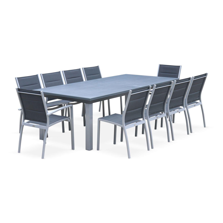 Set da pranzo da giardino tavolo alluminio, allungabile ...