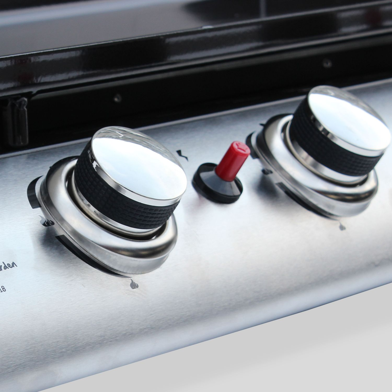 Plancha op gas 4 banders Porthos 10 kW, barbecue