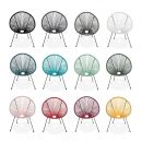 Acapulco set  2 chairs Egg designer chairs - Acapulco White- PVC designer string chairs