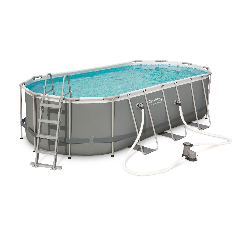 Kit piscine géante complet BESTWAY Spinelle grise, piscine