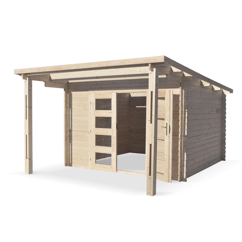 Plan Pour Construire Un Auvent En Bois abri de jardin moderne avec auvent mormal en bois fsc de 13