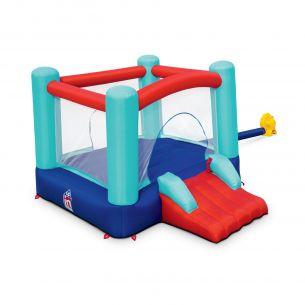 CHAMBORD Château gonflable - Chambord - structure trampoline gonflable, aire de jeu pour enfants, 2,5 x 2,1 x 1,5 m