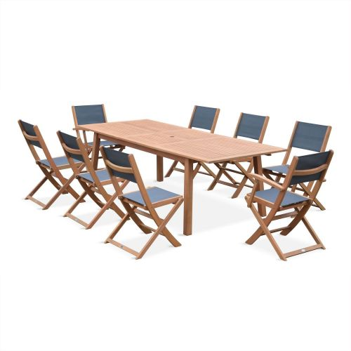 Salon De Jardin En Bois Almeria Grande Table 180 240cm