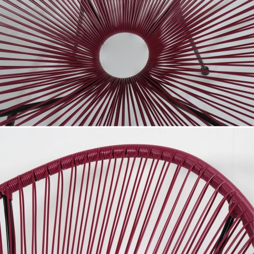 Acapulco set  2 chairs Egg designer chairs - Acapulco Burgundy - PVC designer string chairs