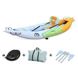 """Betta K0 Monoplace Canoë kayak gonflable 1 place Betta K0 10'3"""" - 3,12m bateau monoplace avec gonfleur, pagaie, sac de rangement"""