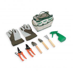 Set d'outils à main Outils de jardinage: gants, râteau, mini pelle, transplantoir, sécateur, cisaille, pulvérisateur
