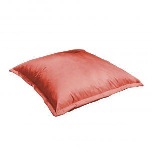 Coussin XL Coussin de sol carré XL – 110x110 cm - Pouf brik (rouge)