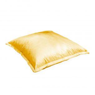 Coussin XL Coussin de sol carré XL – 110x110 cm - Pouf sunny (jaune)