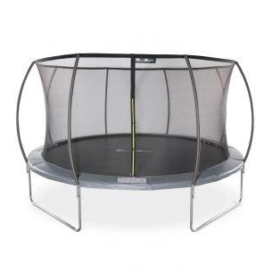 VENUS INNER Trampoline rond Ø 430cm gris avec filet de protection intérieur - Venus Inner  trampoline de jardin 4,30m 430 cm