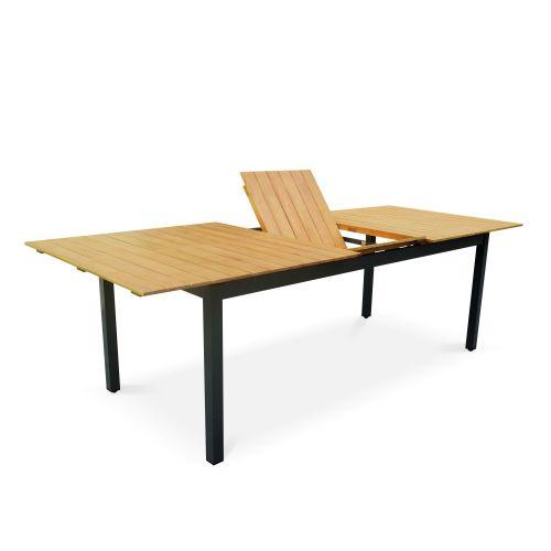 Table De Jardin En Bois Aluminium Extensible 200 250cm Avec