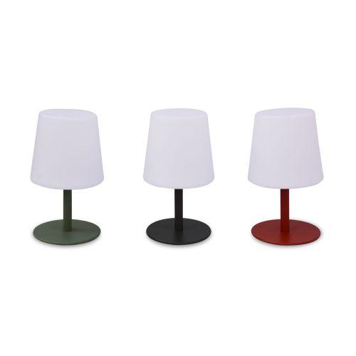 LAMPADA S COLOR LAMPADA S COLOR - Lampe de table LED de 28cm vert de gris - Ø 16cm