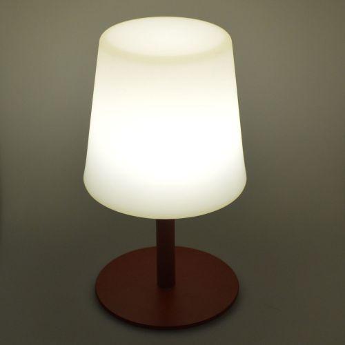 LAMPADA S COLOR LAMPADA S COLOR - Lampe de table LED de 28cm rouge - Ø 16cm
