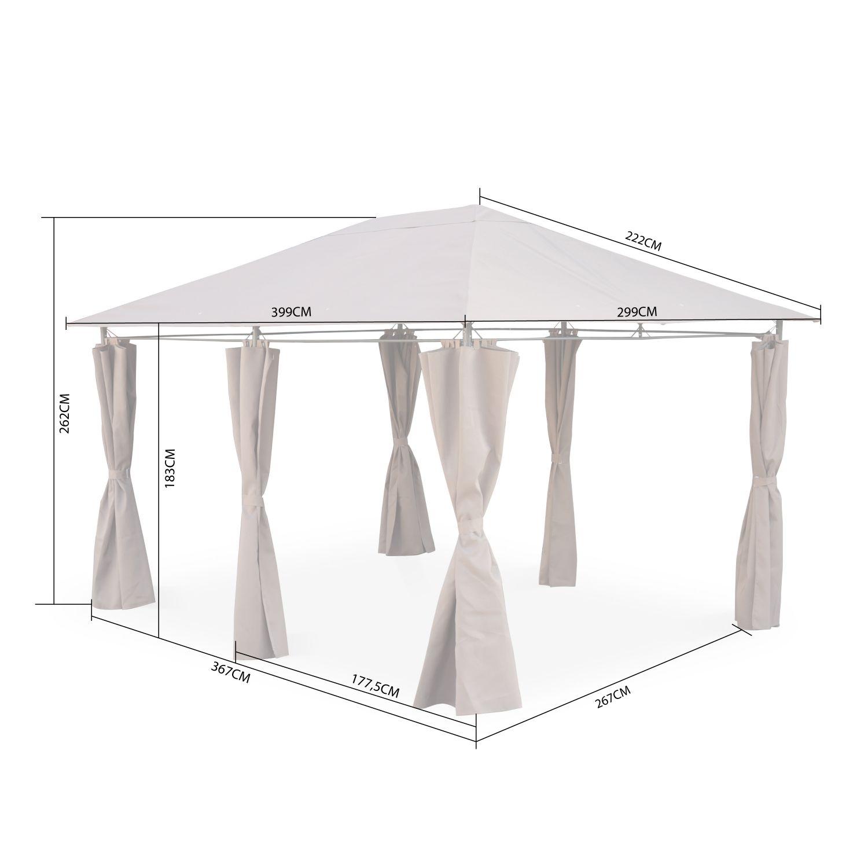 Lampe Exterieur Pour Tonnelle tonnelle 3 x 4 m - divio - toile grise - pergola avec