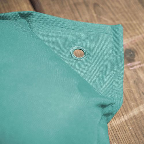 Lot de 2 coussins 50x50 Lot de 2 coussins carrés - 50x50 cm – Sky (vert d'eau), coussins de décoration avec fixation à œillet