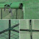 Basilic Serre de jardin Basilic 2m² avec 8 étagères en polyéthylène