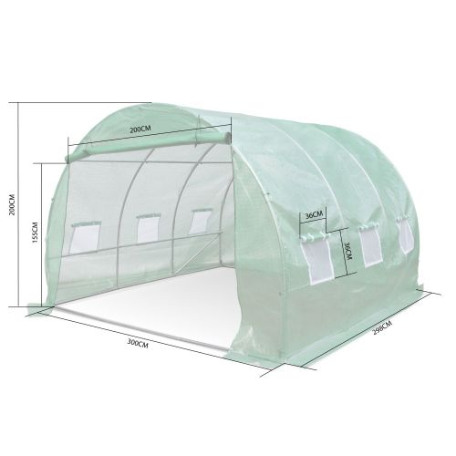 THYM Serre de jardin tunnel en polyéthylène 9m², serre maraichère