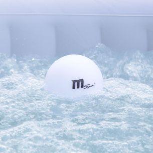 Lampe flottante pour SPA Lampe flottante pour spa gonflable MSPA Ø12cm, LED pour spa, 16 couleurs, rechargeable, télécommande