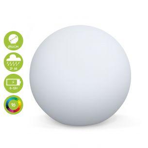 Sphère LED Boule lumineuse LED ⌀ 50 cm 16 couleurs, étanche, recharge sans fil avec télécommande