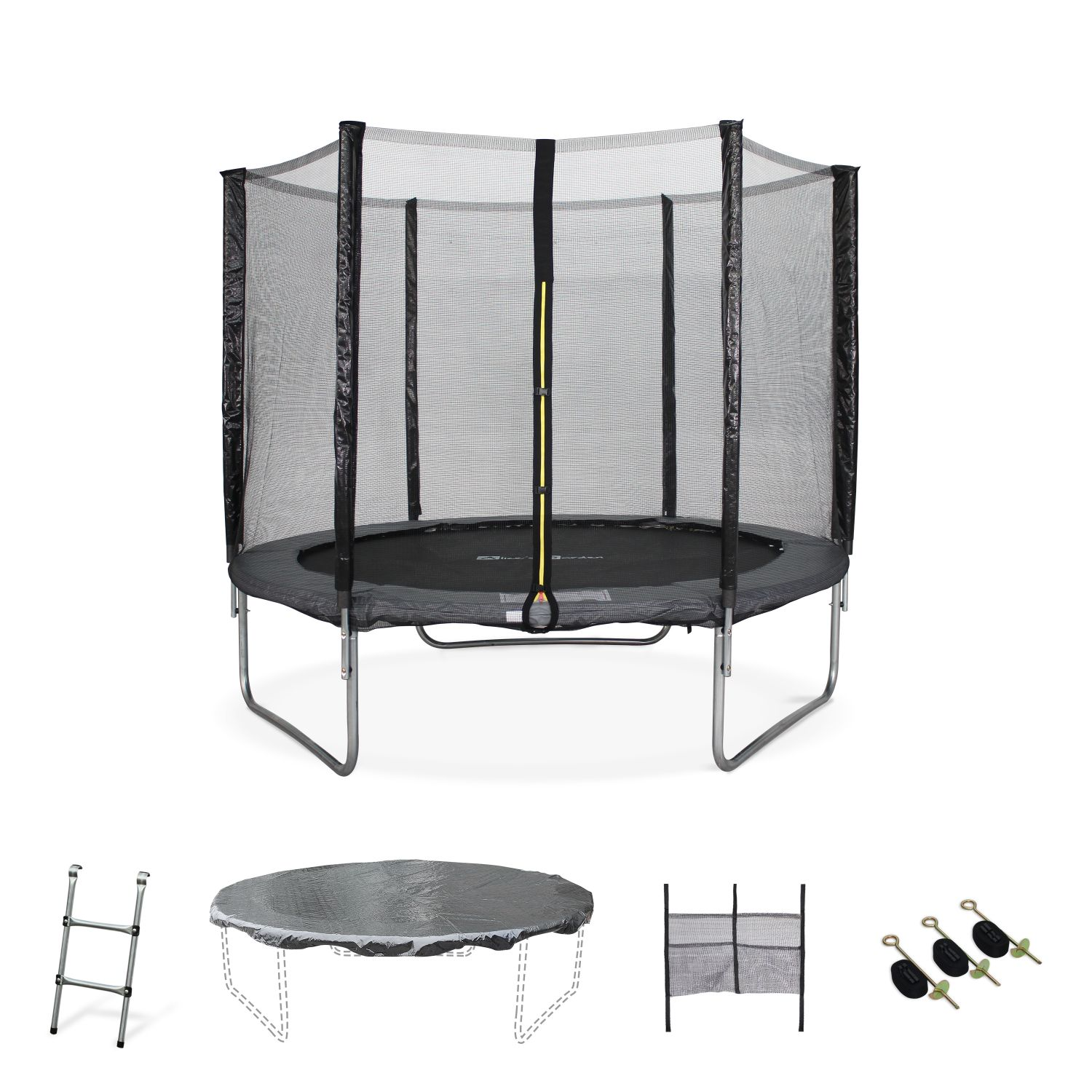 10ft Trampoline with Safety Net & Accessories Kit - Grey - PRO