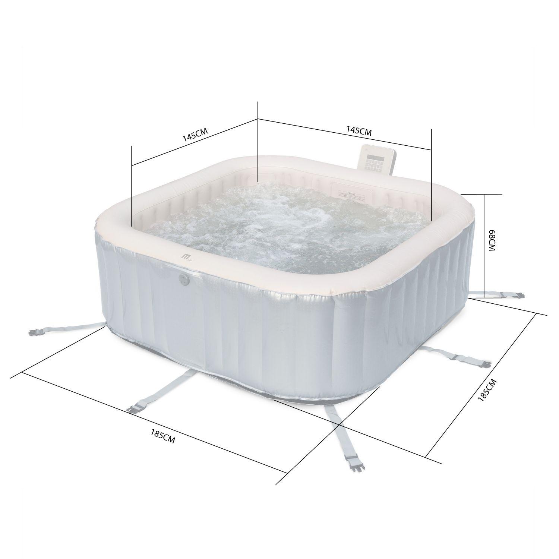Quoi Mettre Sous Un Spa Gonflable spa 185 cm 6 personnes gonflable carré avec jets