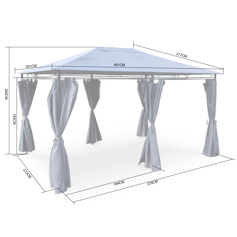 Comment Detruire Efficacement Les Taupes tonnelle 3 x 4 m - nicae - toile taupe - pergola avec