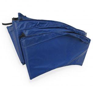 Pollux Coussin de protection bleu pour trampoline 370cm de diamètre, épaisseur 22mm