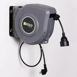 Rallonge électrique VOLTR - Rallonge électrique murale câble de 15m , enrouleur de jardin automatique,sécurité thermique